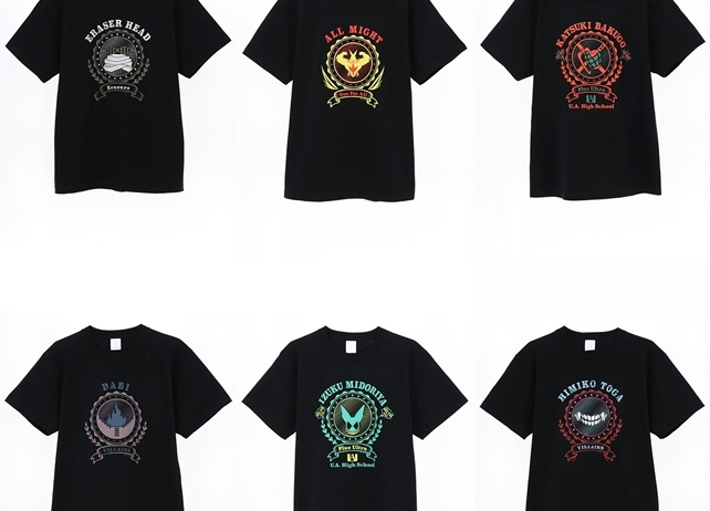 『僕のヒーローアカデミア』Tシャツが発売決定