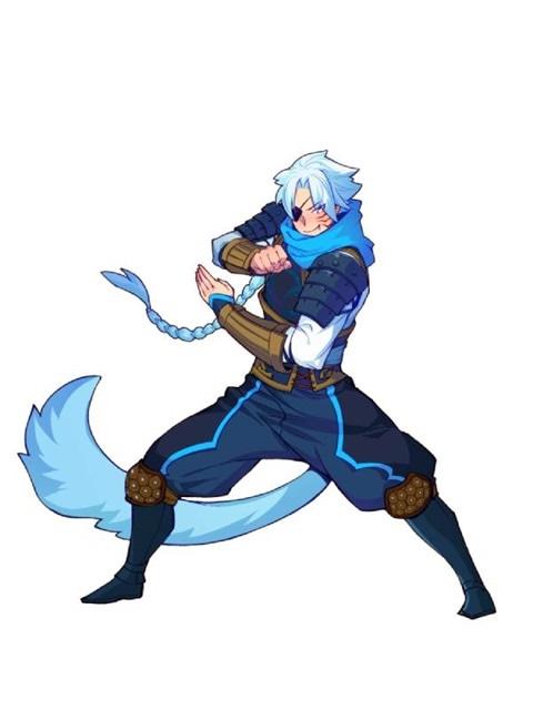 ~雷属性~ 中国の伝説上の神獣である四神の1つで、西方を守護する。白は、五行説では西方の色とされる。作品内での形態は筋肉質の男性。尻尾は攻撃できる。