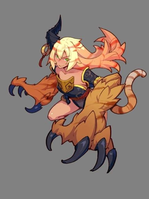 ~火属性~ 中国神話に登場する怪物あるいは霊獣の一つ。四凶の一つとされる。ハリネズミの毛が生えた牛で、邽山(けいざん)という山に住み、イヌのような鳴き声をあげ、人間を食べる。