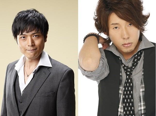 ▲西條高人役・高橋広樹さん(左)、佐々木 拓役・日野 聡さん(右)