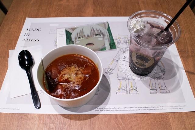 ▲左から「お肉 de リコ汁~んなぁ添え」、「イメージドリンク【レグ】」