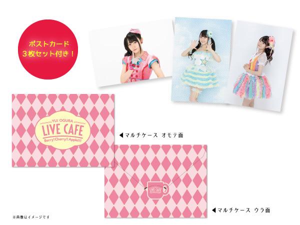 ▲ポストカード付マルチケース(ポストカード3枚セット付)各¥1,080(税込)