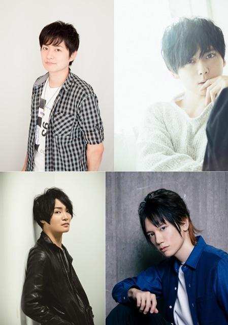 ▲左上から下野紘さん、梶裕貴さん、左下から細谷佳正さん、KENNさん