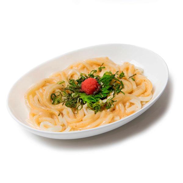 ▲明太クリームうどんを食べて明日もがんばりまめ大福 (0v0)¥1,000(税込)