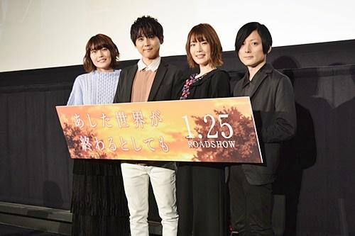 ▲左から千本木彩花さん、梶裕貴さん、内田真礼さん、櫻木優平監督