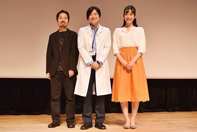 ▲左から蜂須賀健太郎監督、下野紘さん、井桁弘恵さん