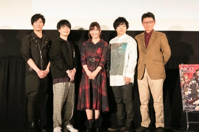 ▲左から古川 慎さん、小林裕介さん、白石晴香さん、村田太志さん、村田和也監督