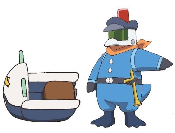 ▲警備隊員とパトカー