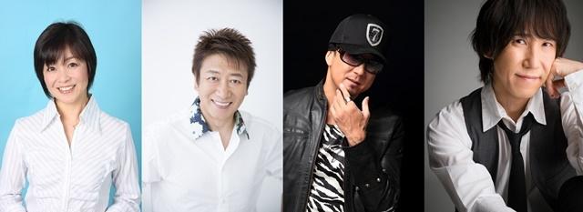 ▲左から日髙のり子さん、井上和彦さん、黒田崇矢さん、平川大輔さん