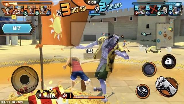 ▲相手を倒してお宝を奪取! 通常攻撃は連打することでコンボが繋がります。