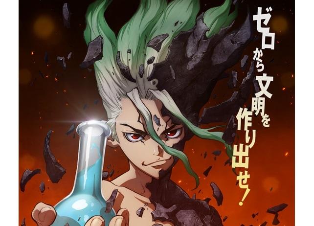アニメ『Dr.STONE』千空らメインキャラクター4名の設定画が解禁