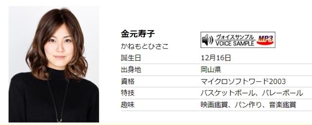 声優・金元寿子さん、本日3月1日より海外留学のための休業から復帰! 所属事務所の公式サイトで報告-1