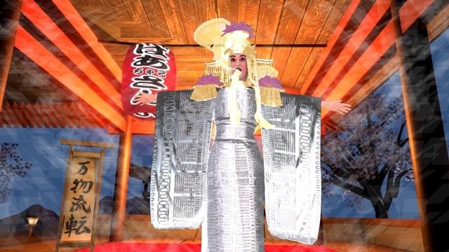 ▲小林幸子さんがバーチャルの姿で出演する「バーチャルグランドマザー」のコーナー