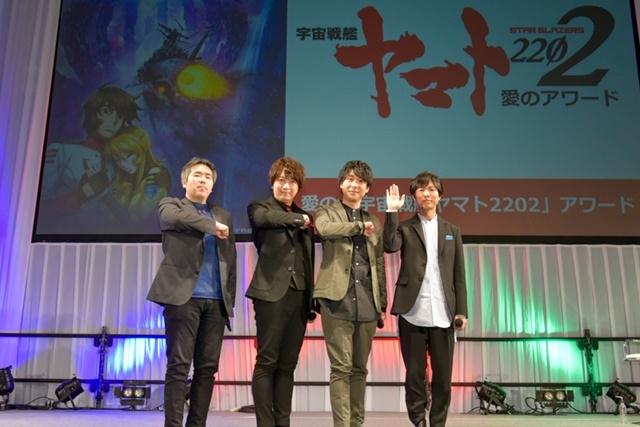 ▲左から福井晴敏さん、小野大輔さん、鈴村健一さん、神谷浩史さん