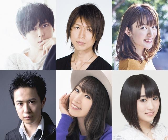 ▲左上から梶裕貴さん、神谷浩史さん、小松未可子さん、左下から杉田智和さん、水樹奈々さん、悠木碧さん