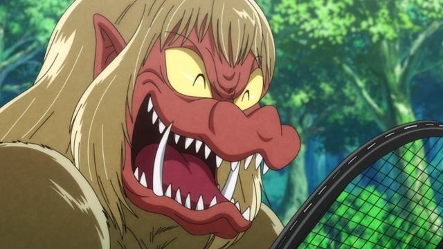『ゲゲゲの鬼太郎』第55話「狒々のハラスメント地獄」の先行カット公開! 妖怪・狒々(CV:小野坂昌也)は、金メダルがとれるテニス選手を育成しようと決意