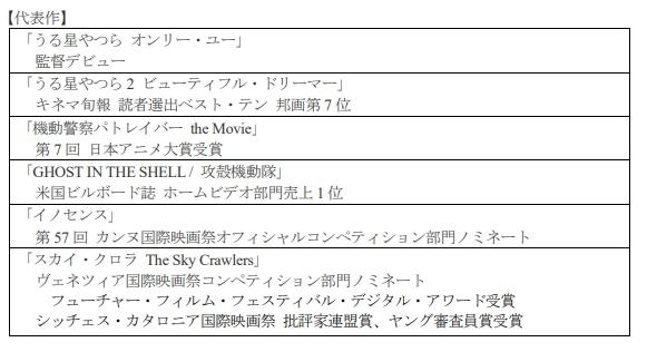 押井守氏による原作・脚本・総監督の新作アニメーション、2020年春から初夏頃に放映・配信予定