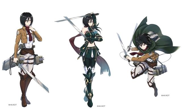 運命選択RPG『イドラ ファンタシースターサーガ』×『進撃の巨人』コラボ、★5キャラクター「ミカサ」のイラストを公開!