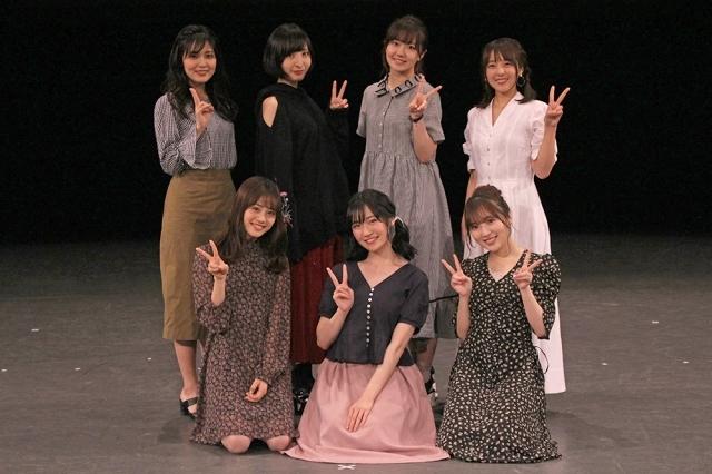 ▲左上から、金元寿子さん、佐倉綾音さん、三澤紗千香さん、加藤英美里さん 下段左から、伊藤美来さん、前島亜美さん、豊田萌絵さん