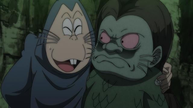 『ゲゲゲの鬼太郎』第58話「半魚人のかまぼこ奇談」より先行カット到着! 鬼太郎は、半魚人(CV:松山鷹志)の深海妖術で姿を変えられて……!?