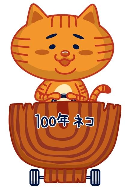 ▲100年ネコ