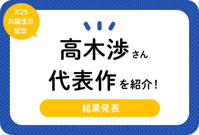 声優・高木渉さん、アニメキャラクター代表作まとめ