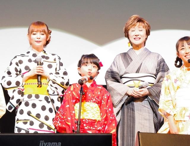 ▲歌いだしのソロパートを担当するのは、ポケモンキッズ2019最年少のはんなちゃん(6歳)。
