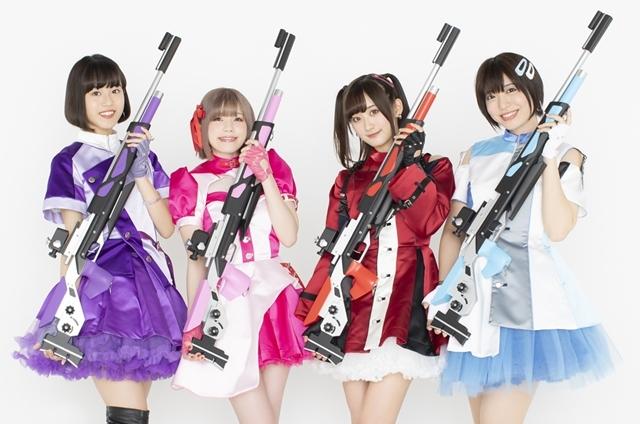 ▲「ライフリング4」左から熊田茜音さん、Machicoさん、南早紀さん、八巻アンナさん