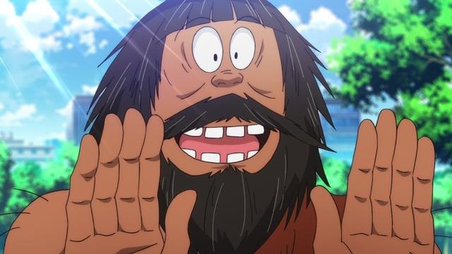 『ゲゲゲの鬼太郎』第67話「SNS中毒VS縄文人」より先行カット到着! SNSの人気者・湊クリスティーンは、縄文人の出現で……