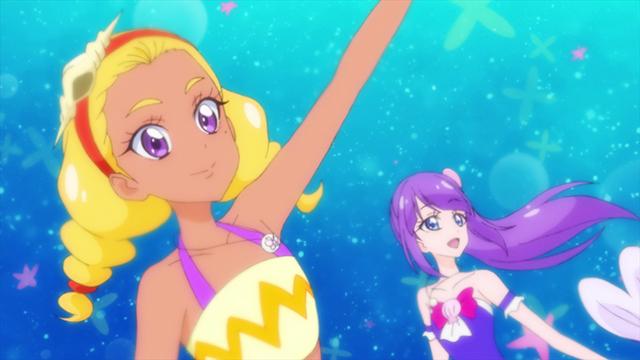 『スター☆トゥインクルプリキュア』第27話「海の星!人魚になってスーイスイ☆」より先行カット到着!  人魚に変身したひかるたち、そして宇宙ジェットが襲来し……!?