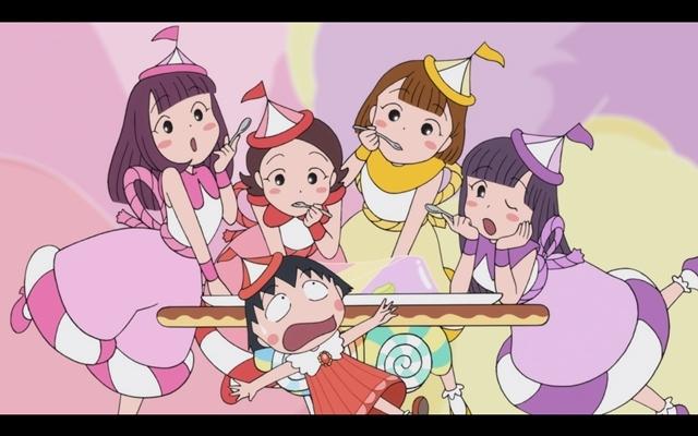 『ちびまる子ちゃん』ももクロとまるちゃんたちが大集合! 全編アニメーションの「おどるポンポコリン」MV公開-3