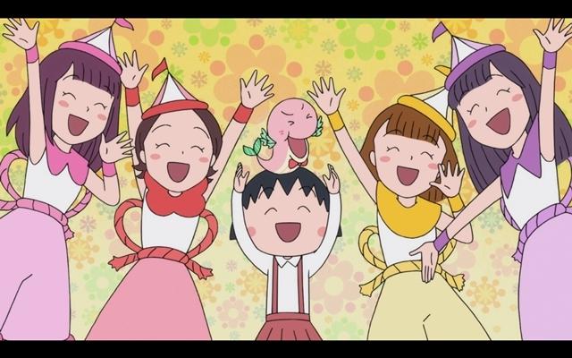 『ちびまる子ちゃん』ももクロとまるちゃんたちが大集合! 全編アニメーションの「おどるポンポコリン」MV公開-9