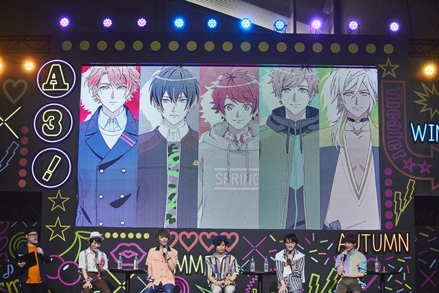 イケメン役者育成ゲーム『A3!(エースリー)』初のフェス型イベント「A3! BLOOMING CARNIVAL」レポート! 新情報が続々解禁