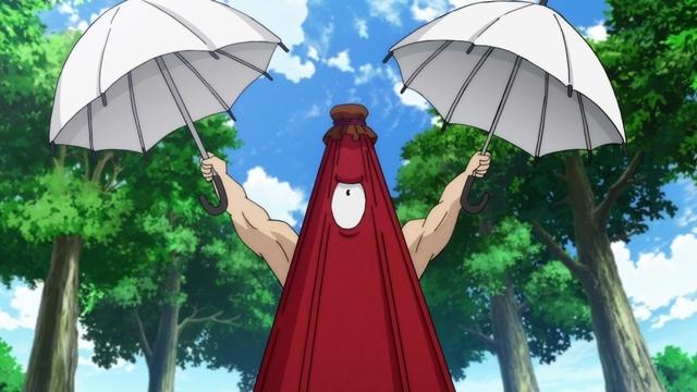 『ゲゲゲの鬼太郎』第71話「唐傘の傘わずらい」より、先行カット公開! 唐傘(CV:稲田徹)は、ビニール傘を取り違えた青年(CV:岸尾だいすけ)を目撃して……