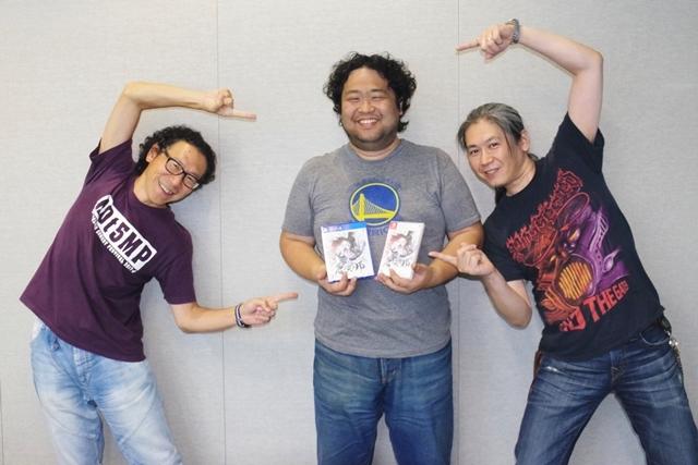 ▲かなりシリアスな作品だが、作っている方々はとってもお茶目。左から時田貴司氏、橋本厚志氏、佐々木隆太郎氏。