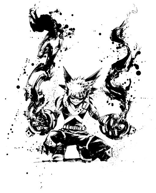 TVアニメ『僕のヒーローアカデミア』水墨画アートが解禁!「京まふ2019」にてグッズの販売も決定