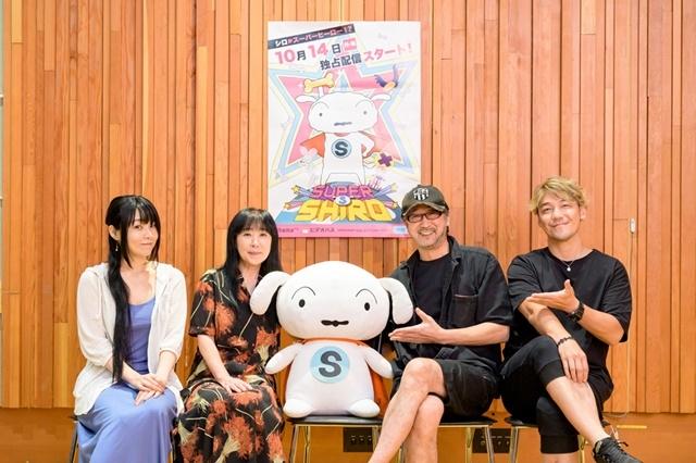 ▲写真左から ゆかな、真柴摩利、シロ、大塚明夫、勝杏里