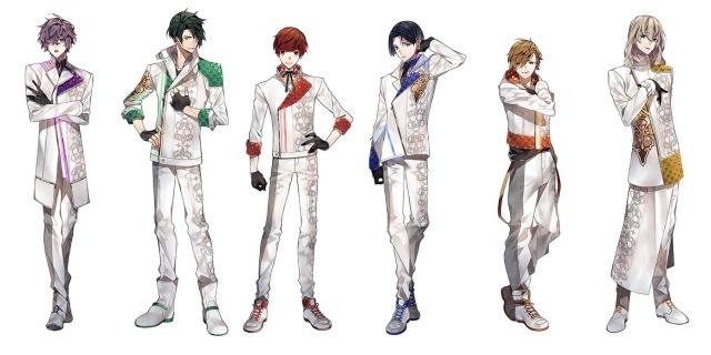 ▲【Anthos】 ※左から灯堂理人(TOUDO LIHITO、22歳)、影河凌駕(KAGEKAWA RYOGA、24歳)、結城眞紘(YUKI MAHIRO、18歳)、如月薫(KISARAGI KAORU、18歳)、清瀬陽汰(KIYOSE HARUTA、17歳)、チセ(CHISE、20歳)