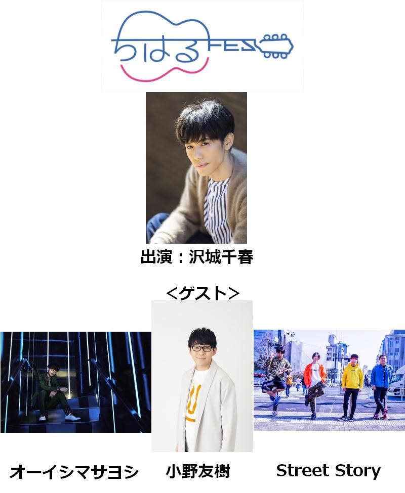 『沢城千春のTHE CATCH ちはるFES♪2019』チケット販売中!