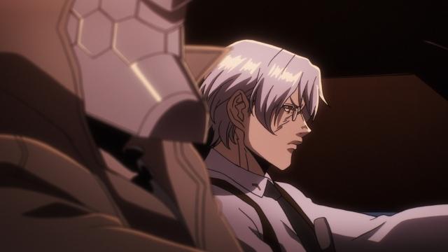 秋アニメ『ノー・ガンズ・ライフ』第6話「英雄」のあらすじ&最新場面カット到着! 殺人を繰り返しながら逃亡中の囚人・ゴンドリー。十三はオリビエから彼の探索を依頼される……