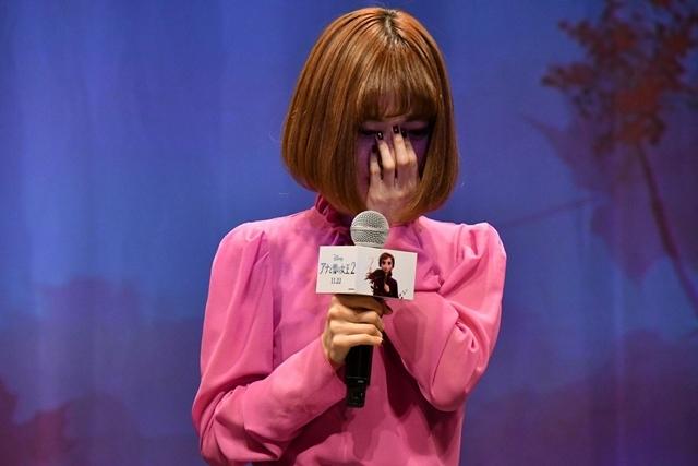 『アナと雪の女王2』日本のアナ役・神田沙也加さん、監督との再会に感涙! 世界で唯一のアナ雪2メドレー披露に大感激-3