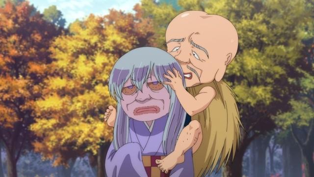 『ゲゲゲの鬼太郎』第82話「爺婆ぬっぺっぽう」の先行カット到着! 老化し始める鬼太郎たち、しかし砂かけばばあが……