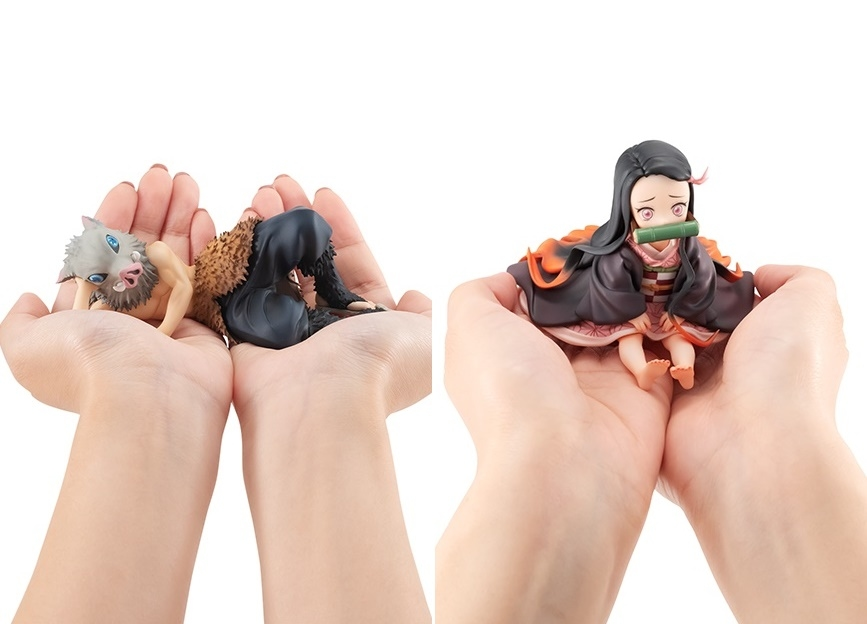 『鬼滅の刃』伊之助&禰豆子のてのひらサイズフィギュア登場