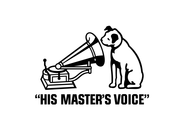 ▲ビクター犬「ニッパー犬のマーク」画像