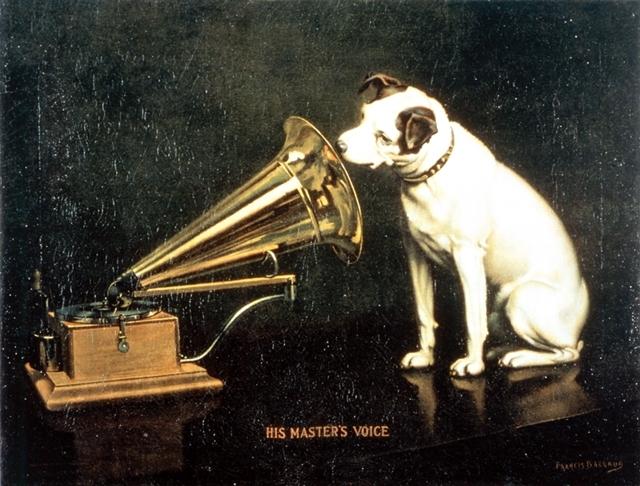 ▲「His Master's Voice」原画画像