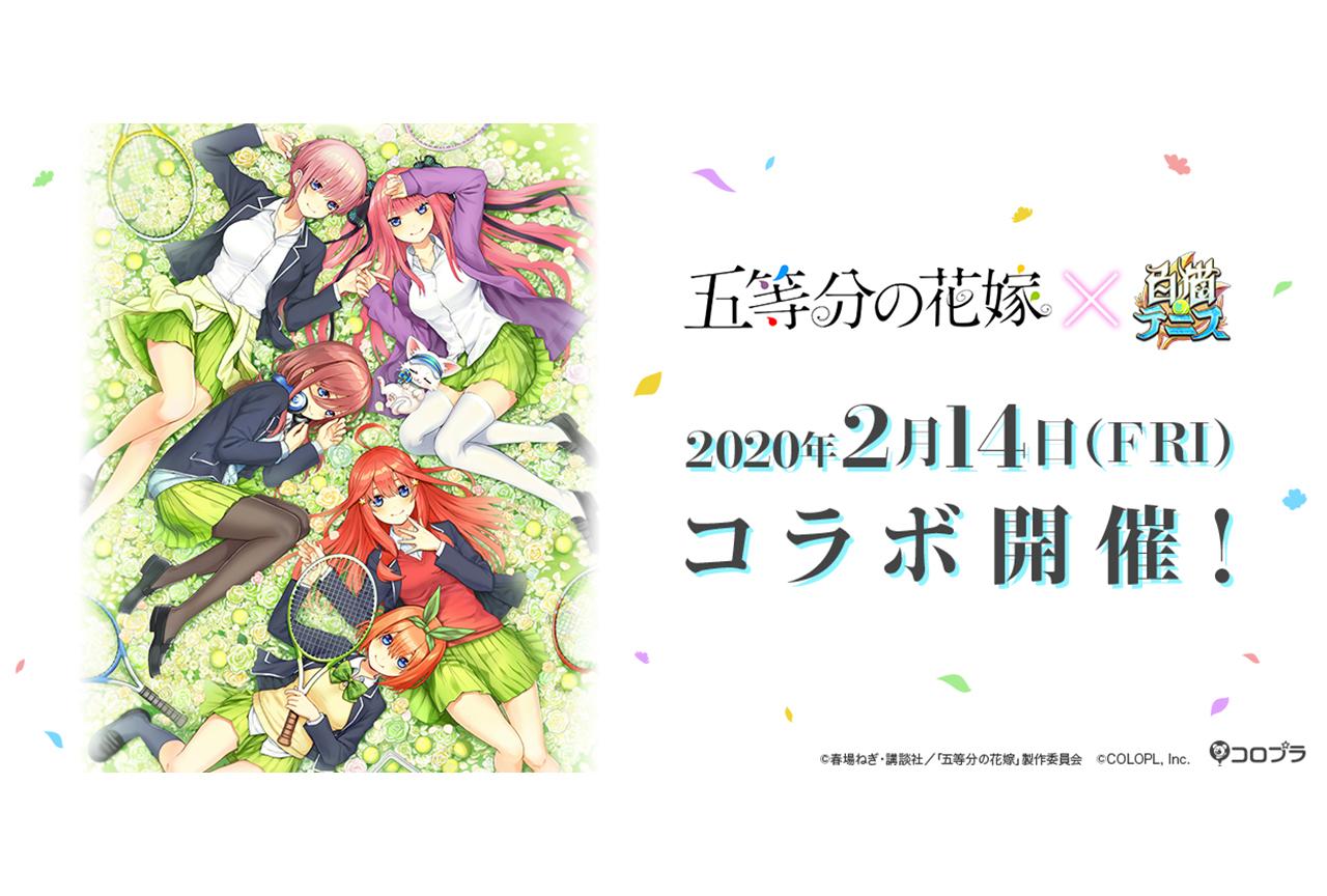 TVアニメ『五等分の花嫁』×『白猫テニス』コラボ紹介