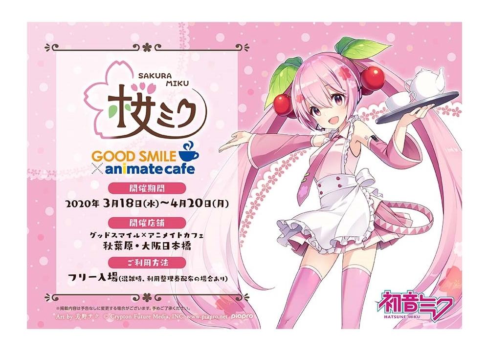 『桜ミク』とアニメイトカフェのコラボカフェ開始決定!
