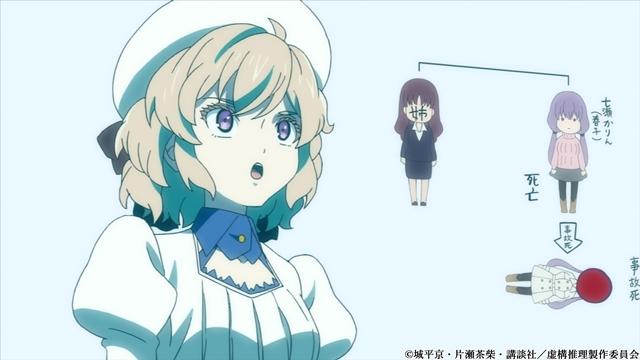 冬アニメ『虚構推理』第10話「虚構争奪」より、あらすじ&先行場面カット到着! 推理を棄却されても、琴子は次の推理を用意していて……-2