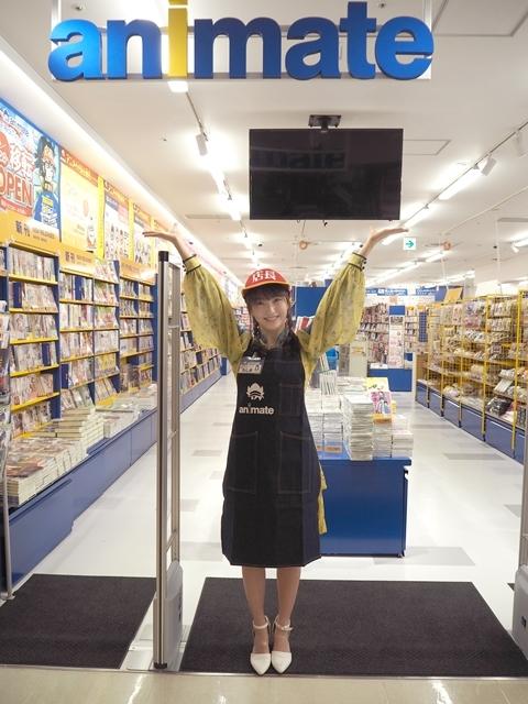 『アニメイト福岡パルコ』3/28移転リニューアルオープン! HKT48田島芽瑠さんが、3/27開催のメディア向け内覧会に登場-2