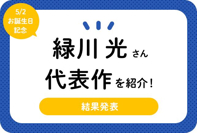 声優・緑川光さん、アニメキャラクター代表作まとめ(2020年版)